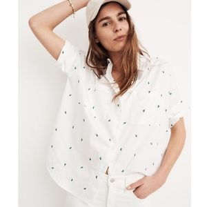 Madewell cactus oversized button down shirt